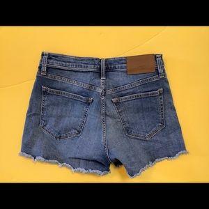 J. Crew a Mercantile high rise jean shorts Sz 26